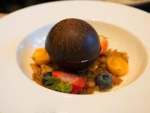 Chocolate Sphere Stock Image