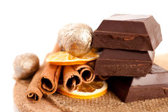 Chocolate and spice Royalty Free Stock Photos