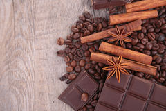 Chocolate and spice Royalty Free Stock Images