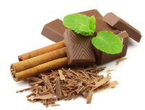 Chocolate with spices Royalty Free Stock Photos