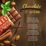 Chocolate And Spices Background Royalty Free Stock Photo