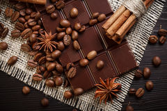 Chocolate with spices Royalty Free Stock Image