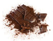 Chocolate with spices Royalty Free Stock Images