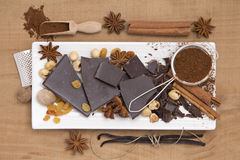 Chocolate and spices Stock Photo