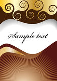 Chocolate spiral background Stock Images