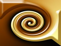 Chocolate. Spiral like from brown and white chocolate Stock Image