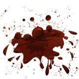 Chocolate splash Stock Images