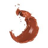 Chocolate splash stock illustration