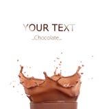 Chocolate splash. Isolated on black background Royalty Free Stock Image