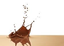 Chocolate splash. Closeup isolated on white background Royalty Free Stock Image
