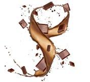 Chocolate splash Royalty Free Stock Images