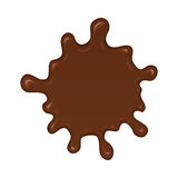 Chocolate splash blot Royalty Free Stock Images