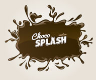 Chocolate splash with drops Royalty Free Stock Image