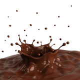 Chocolate splash Royalty Free Stock Photography