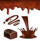 Chocolate splash and ripples Stock Photography