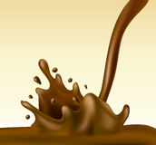 Chocolate splash Royalty Free Stock Photos