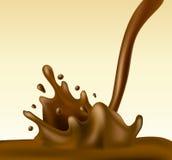 Chocolate splash Royalty Free Stock Photos