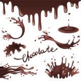 Chocolate splashes Stock Image