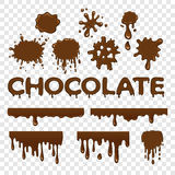 Chocolate splat collection Royalty Free Stock Photos