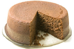 Chocolate sponge cake Stock Photo