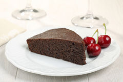 Chocolate sponge cake Stock Images
