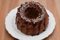 Chocolate Sponge Cake Royalty Free Stock Photography