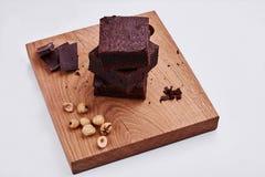 Chocolate sponge cake Royalty Free Stock Photography