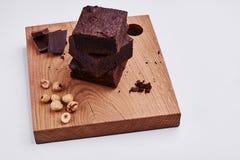 Chocolate sponge cake Royalty Free Stock Images