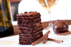 Chocolate Sponge Dessert Royalty Free Stock Image