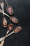 Chocolate spoons Royalty Free Stock Photo