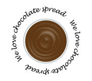 Chocolate spread. Tasty chocolate spread  illustration Royalty Free Stock Images