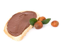 Chocolate spread container Stock Images