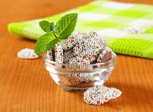 Chocolate sprinkle cookies Royalty Free Stock Photo