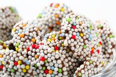 Chocolate sprinkle cookies Stock Photography