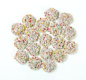 Chocolate sprinkle cookies Stock Photos
