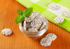 Chocolate sprinkle cookies Royalty Free Stock Images