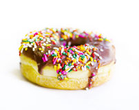 Chocolate sprinkle donut Royalty Free Stock Photo