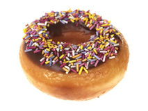 Chocolate Sprinkle Ring Doughnut Stock Photography