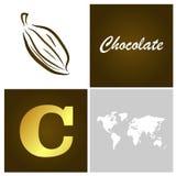 Chocolate square picture Stock Photo