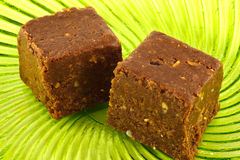 Chocolate square sweets Stock Images