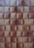 Chocolate Square Tiles Royalty Free Stock Photography