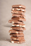 Chocolate stack Royalty Free Stock Photos