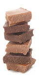 Chocolate Stack Royalty Free Stock Images