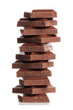 Chocolate  stack Stock Images