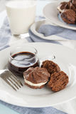 Chocolate Star Biscuits Royalty Free Stock Images