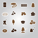 Chocolate stickers set eps10 Royalty Free Stock Photography