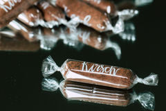 Chocolate Sticks with Kirsch Liqueur Stock Photo