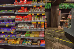 Chocolate on store shelves Royalty Free Stock Photos