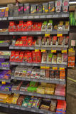 Chocolate on store shelves Stock Images