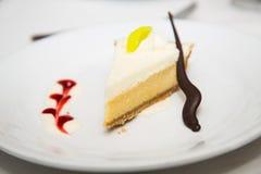 Chocolate Straw Garnish on Lemon Meringue Pie Stock Photography